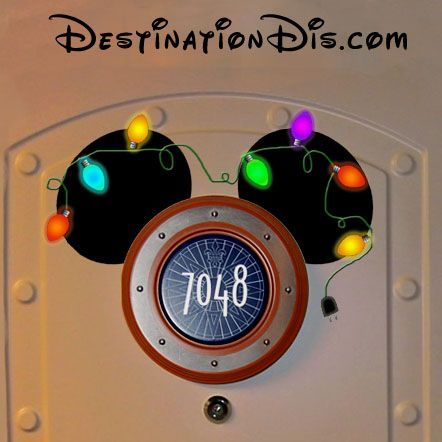 Free printable custom Christmas ear magnet for your Disney cruise door decoration. This design and many more, even custom designs available.