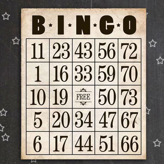 Free Printable Bingo Cards | Vintage inspired, Aspen and ...
