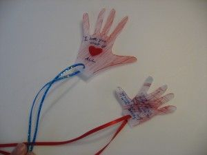 """""""Kissing Hand Necklace"""" for Back to School.  We read this book with my son every morning when we drove him to preschool!"""
