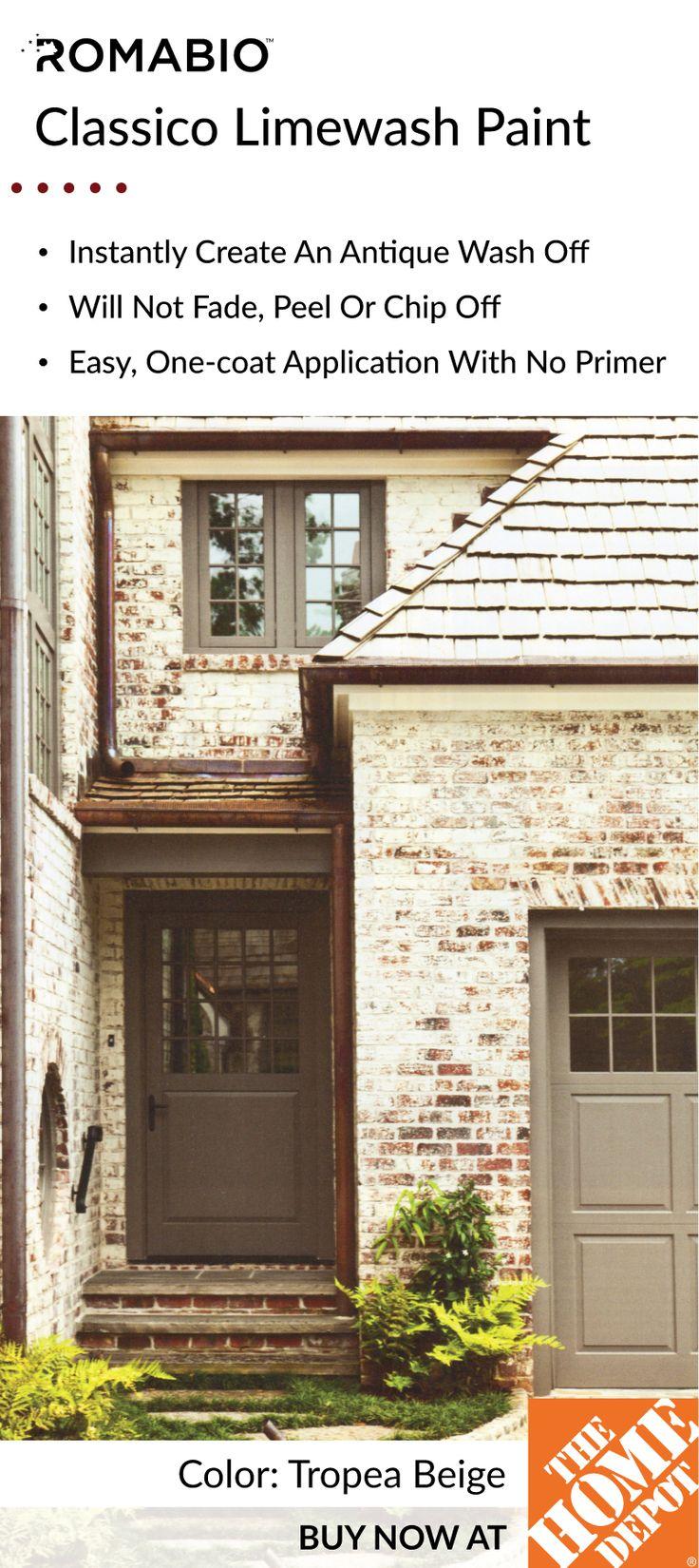 26 best antique limewash paint images on pinterest limes - Lime wash paint exterior design ...