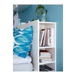 BRIMNES Headboard with storage compartment, white - white - Queen - IKEA. Great way to hide all clutter!
