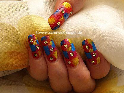 Uñas decoradas con pintura acrilica y piedras strass - Nail Art Motivo 122 http://www.schmucknaegel.de/