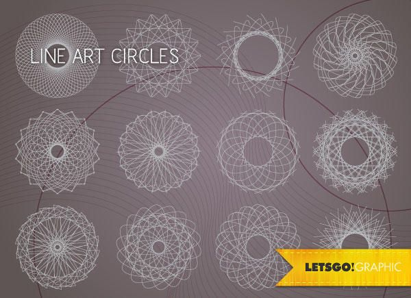 Line Art Design Vector : Best circle designs images abstract backgrounds
