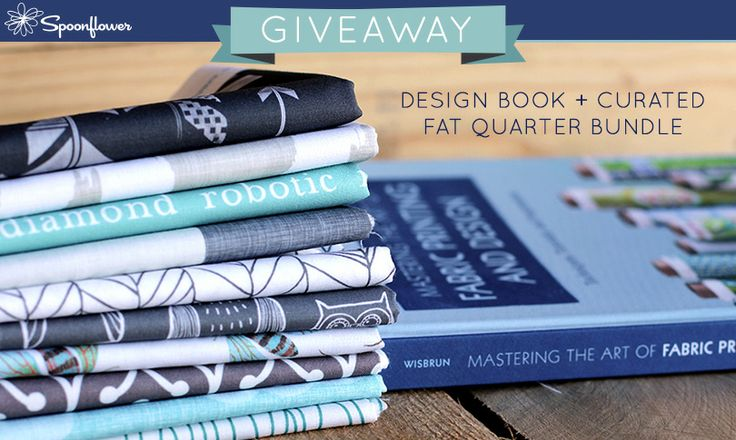 Check out this week's giveaway from Spoonflower-- a chance to win a copy of Laurie Wisbrun's book + a fat quarter bundle!