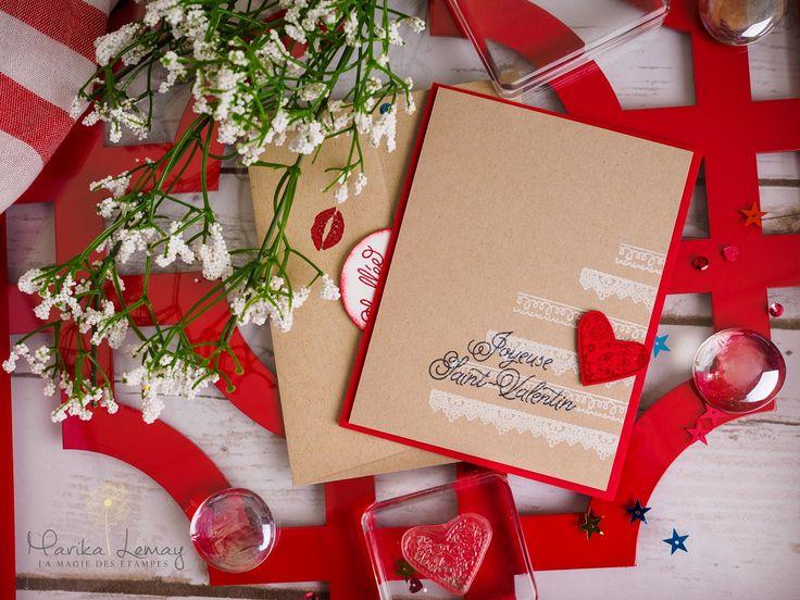 carte St-Valentin jeu Scellé par un baiser Stampin' UP!