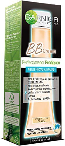 BB Cream Perfeccionador Prodigioso Pieles Mixtas a GrasasTono Claro 40ml de Garnier