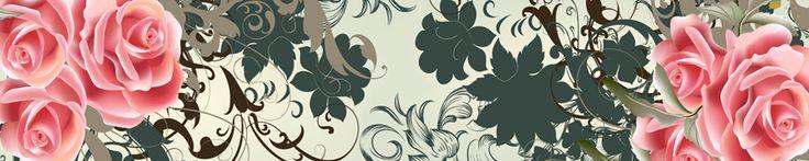 Широкоформатные изображение для кухонного фартука, панорамные фотографии картин высокого качества - фартук кухня - цветы