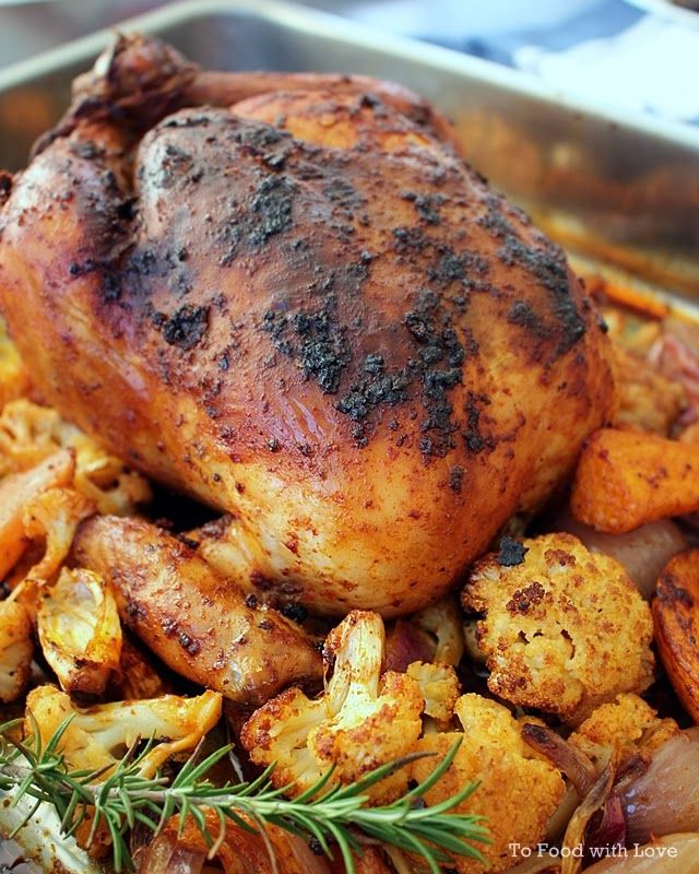 To Food with Love: Moroccan-spiced Roast Chicken
