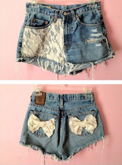 personalizzare shorts denim abbellire rimodernare jeans fai da te moda abbigliamento diy
