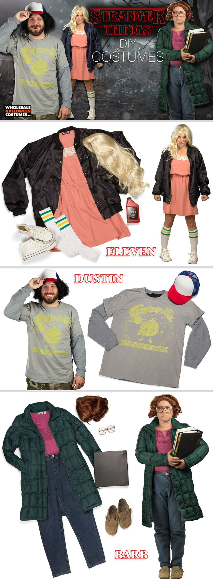 Make things stranger this Halloween with a DIY Stranger Things group costume!