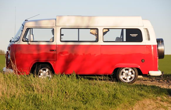 This funky retro one for hire is full of all the mod cons for a weekend getaway.