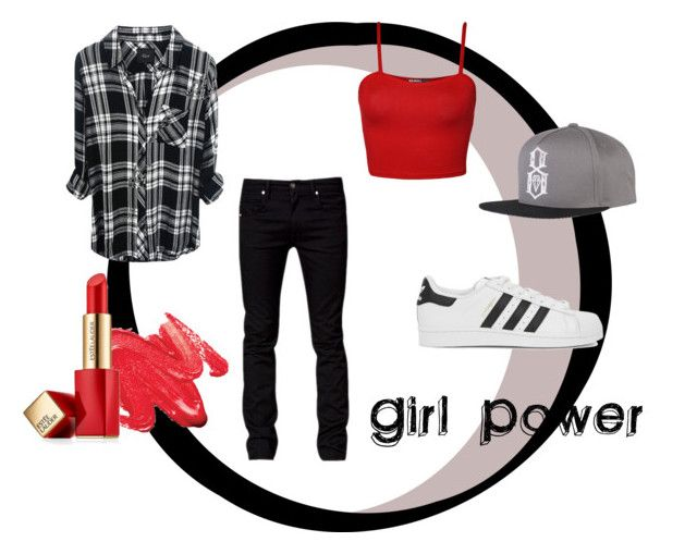 """""""Girl Power!"""" by lizdalma on Polyvore featuring Tiger of Sweden, adidas Originals, WearAll, REBEL8 and Estée Lauder"""
