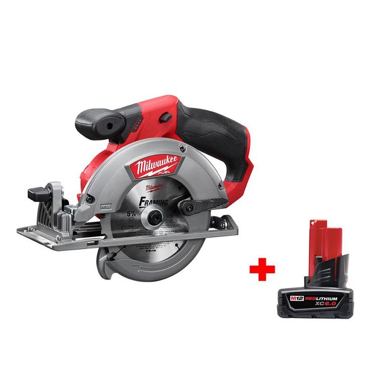 Milwaukee M12 Fuel 12-Volt Lithium-Ion 5-3/8 in. Cordless Circular Saw with 6.0Ah Battery