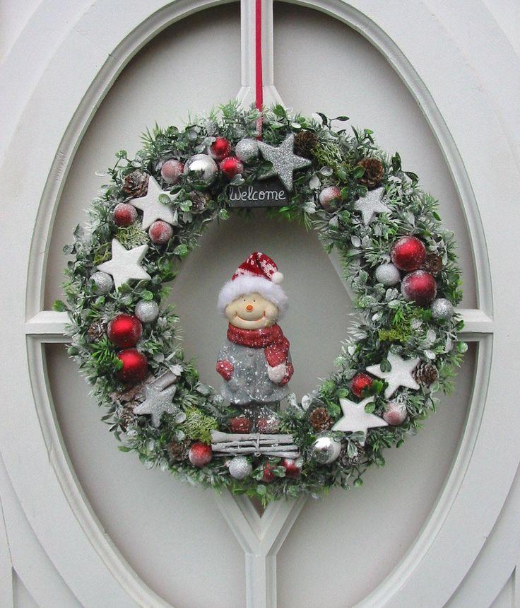 Ber ideen zu schneemann kranz auf pinterest deko geflecht kr nze und weihnachtskr nze - Wohnideen selbermachen weihnachten ...