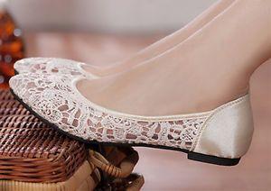 Ivory/Champagne Ballet Flat