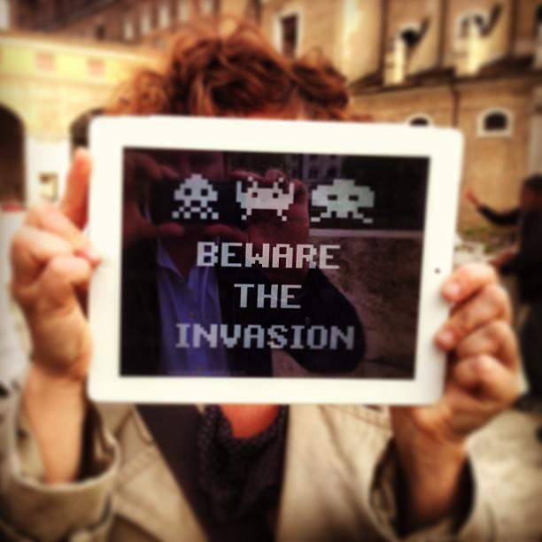 Beware the invasion #invasionidigitali #AraPacis #roma #microma