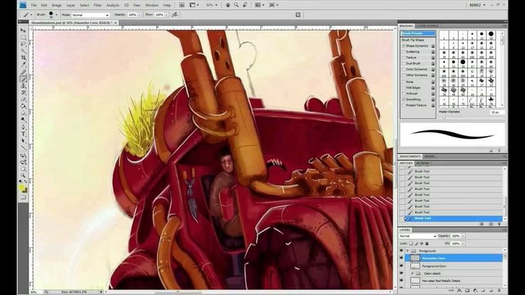 Speed Painting: How to Make a Steampunk Illustration