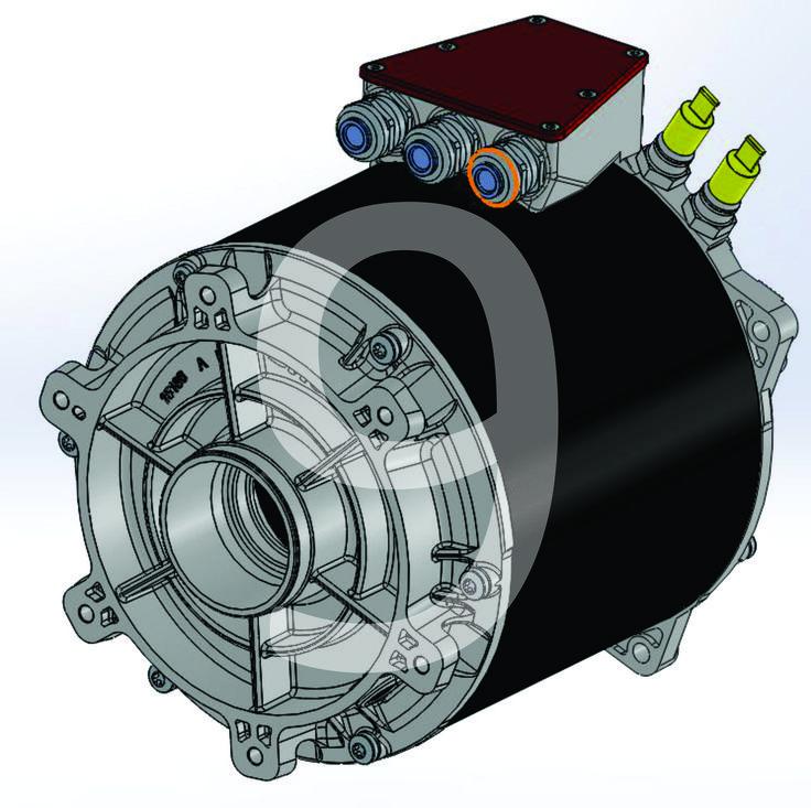 Modelado En CAD de Motor Electrico; Vista isometrica