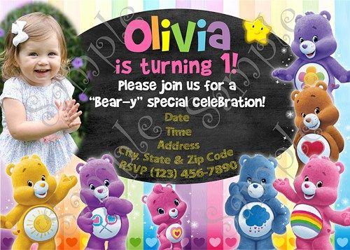 Care Bears Birthday Party Invitation