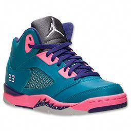 beffdbd4963db8 Girls  Preschool Air Jordan Retro 5 Basketball Shoes  girlsbasketballshoes