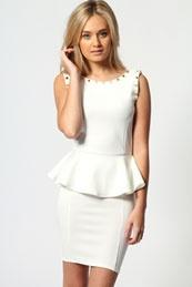 very smooth white pendulum dress