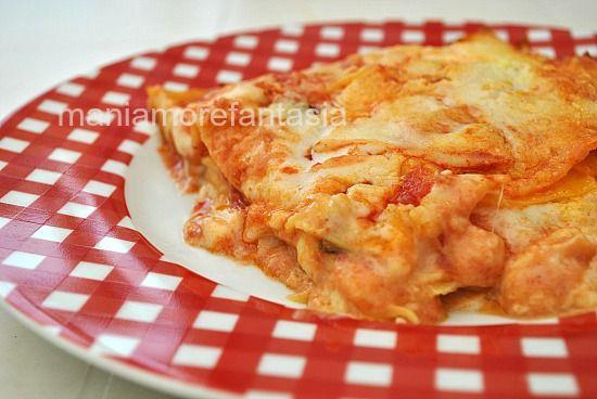 Lasagne semplicissime pomodoro e mozzarella