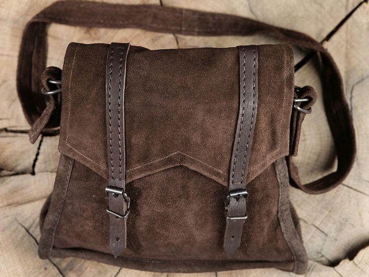 Braune+Wildledertasche+zum+Umh%E4ngen
