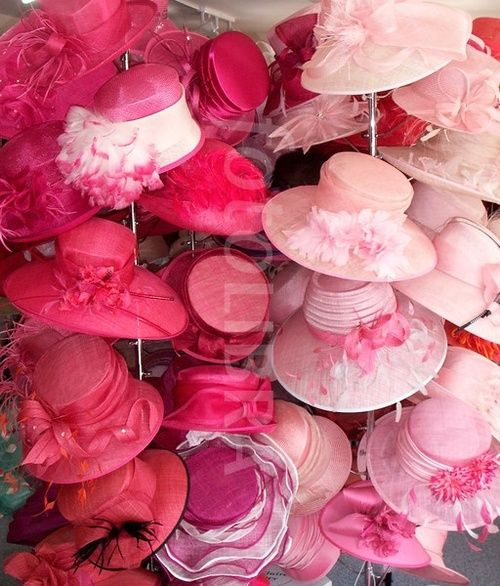 It's raining pink hats for high tea.  <3