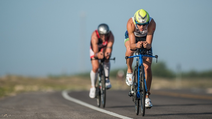 "Memorial Hermann IRONMAN 70.3 Texas  - Nils Nilsen    ""Tim Berkel holds off Chris McDonald during the bike"""
