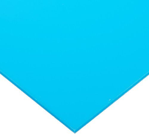 """Cast Acrylic Sheet, Translucent Light Blue, 12"""" X 12"""" X 0.118"""" Size, 2015 Amazon Top Rated Plastic Sheets #BISS"""