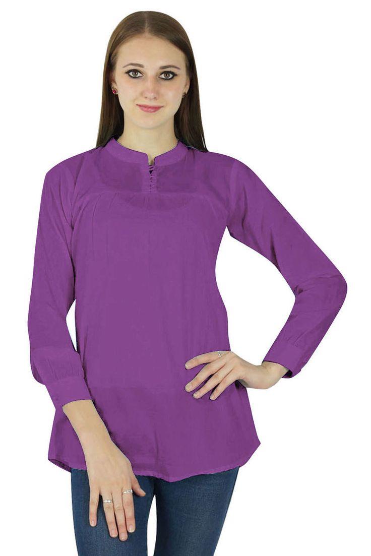 Cotton Purple Sundress Women Boho Top Wear Clothing Dress Summer Casual Tunic