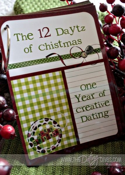 Looking for a gift for hubby? Head over to The Dating Divas to get this free printable: The 12 Daytz of Christmas. One pre-planned date per month for a year!
