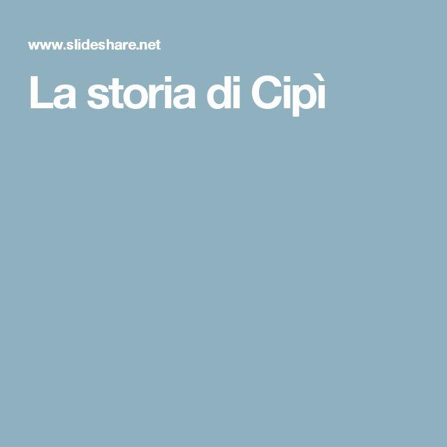 La storia di Cipì