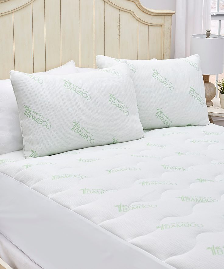 White Essence of Bamboo Natural Latex Pillow Set