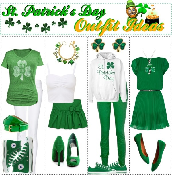 """St. Patrick's Day Outfit Ideas"" by trishaissmiling ❤ liked on Polyvore"