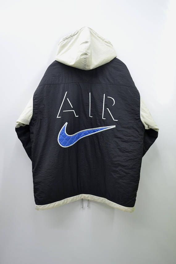 RARE NIKE Jacket Vintage 90's Nike Air Big Logo Winter