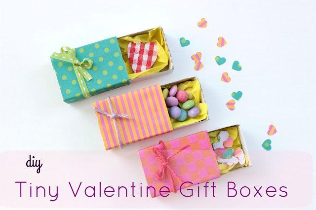 DIY Tiny Valentine Gift Boxes!!!