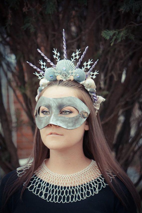 Enchanted Mermaid Crown, Mermaid headdress, Siren Costume, Seashell Crown, Mermaid headband, Headdress, Beach wedding, Cosplay, Halloween
