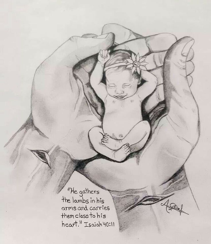 Drawn by a mother of preemie twins the day the doctors said her baby girl might not survive.