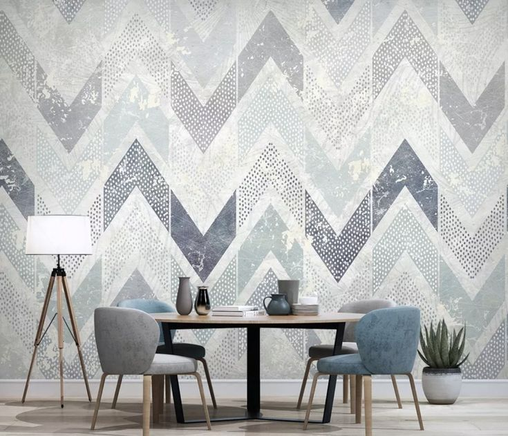 Best Zigzag Pattern With Dot Work Wallpaper Mural In 2020 400 x 300