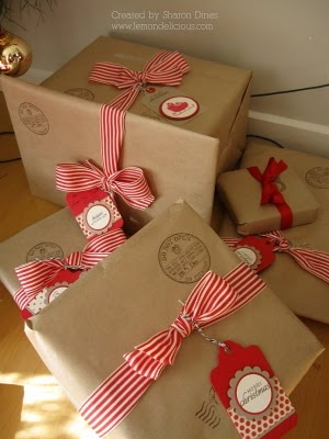 Brown paper packages tied up with string... so cute!