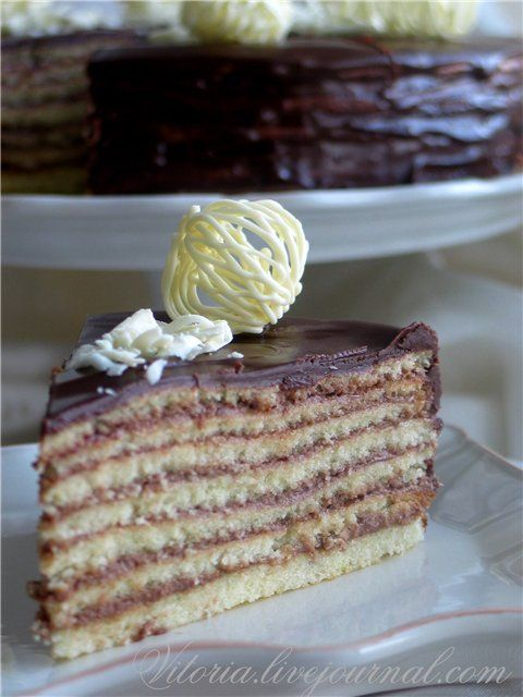 "Торт "" Принц-регент""  Looks like the 7 layer cake that I love."