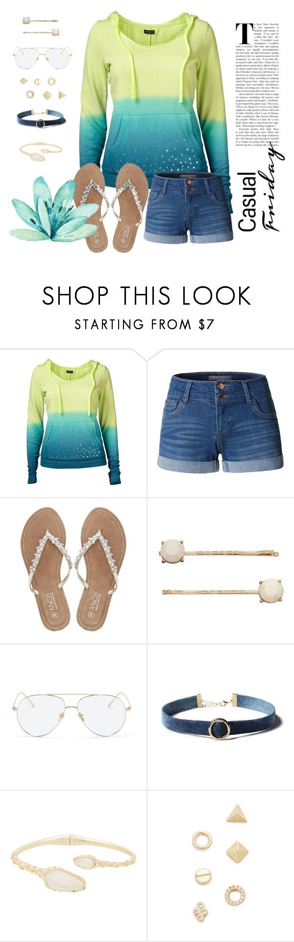 """Untitled #47"" by corliss-b on Polyvore featuring Venus, LE3NO, M&Co, LC Lauren Conrad, Linda Farrow Vintage, WithChic, Kendra Scott and Shashi"