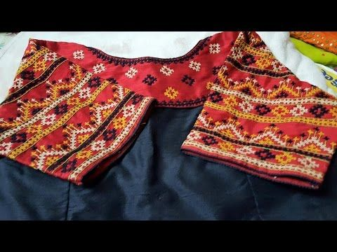 hand embroidery kutch work blouses - YouTube