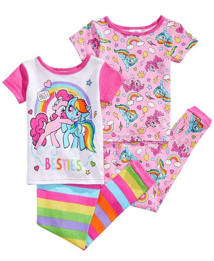 Ame 4-Pc. My Little Pony Besties Cotton Pajama Set, Toddler Girls (2T-5T) #babygirlpajamas