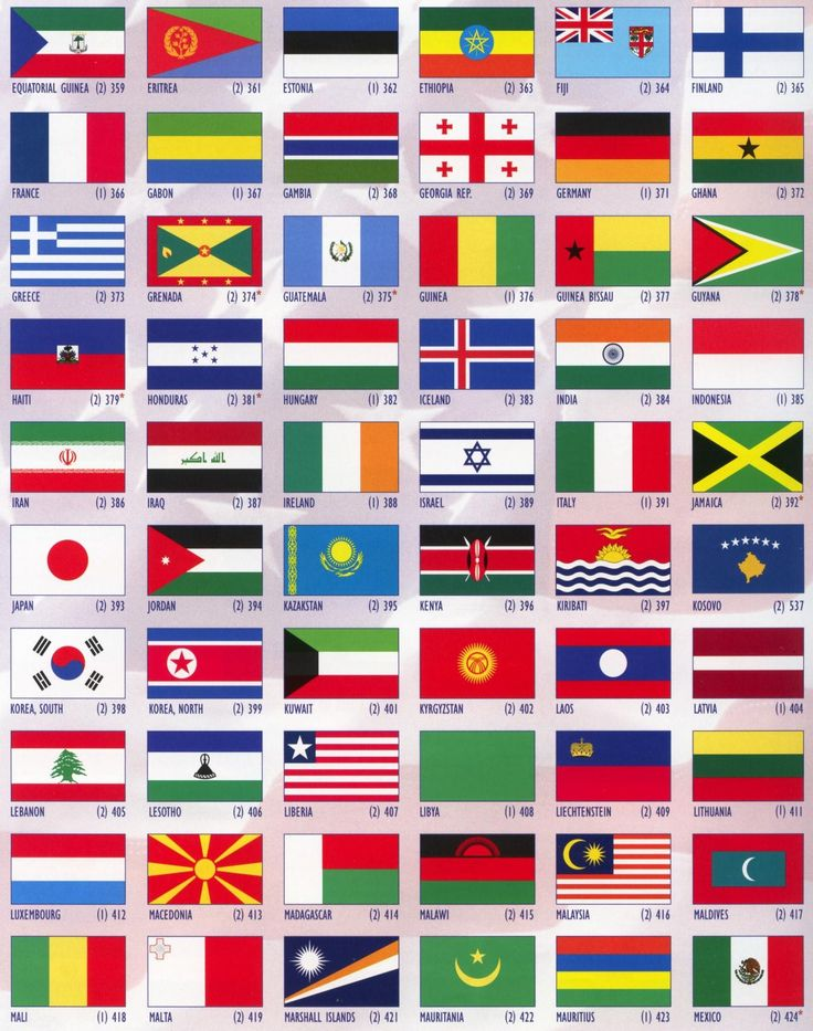 International Flags 3x5 4x6 5x8 All Nations Countrys