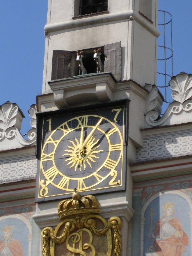City Hall clock in Poznan