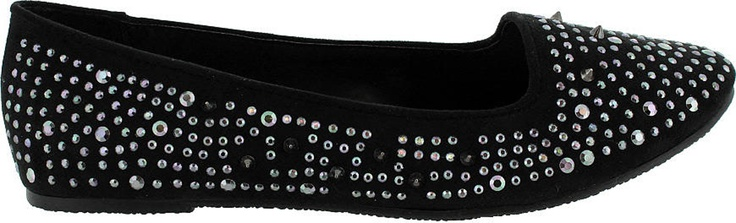 Get into the Rush!! This cute ballet flat is super cool, featuring a mixture of stud and spike embellishments!