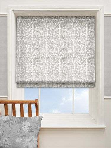 Sissinghurst Silver Birch Roman Blind from Blinds 2go