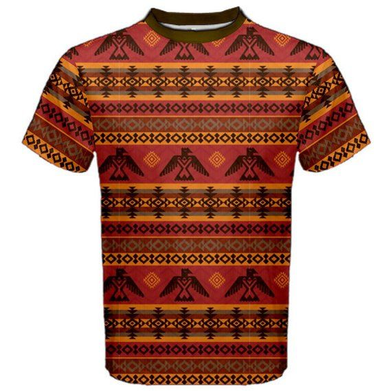 CowCow Mens Brown Eagles Ethnic Style Pattern Tribal Native American Sport Mesh Tee